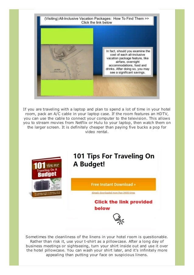3750c6adadf9 How To Travel For Free All-Inclusive Vacation Packages  How To Find …