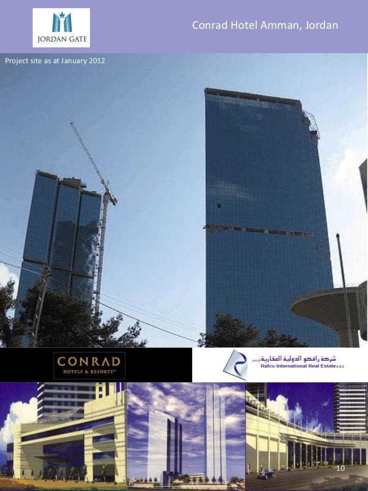 Conrad Hotel Amman, JordanProject site as at January 2012                                                           10