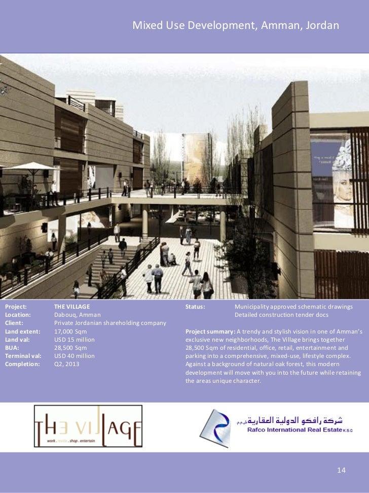 Mixed Use Development, Amman, JordanProject:        THE VILLAGE                              Status:          Municipality...