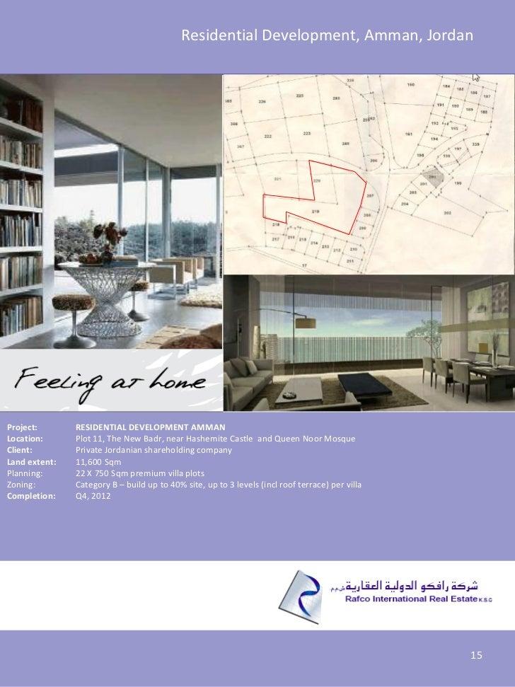 Residential Development, Amman, JordanProject:       RESIDENTIAL DEVELOPMENT AMMANLocation:      Plot 11, The New Badr, ne...