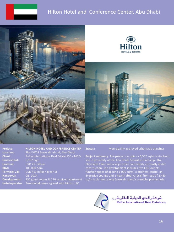 Hilton Hotel and Conference Center, Abu DhabiProject:          HILTON HOTEL AND CONFERENCE CENTER           Status:       ...