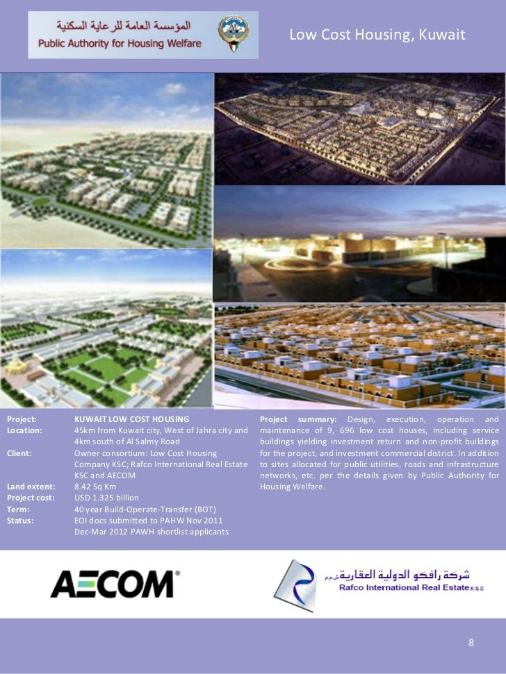Low Cost Housing, KuwaitProject:        KUWAIT LOW COST HOUSING                         Project summary: Design, execution...