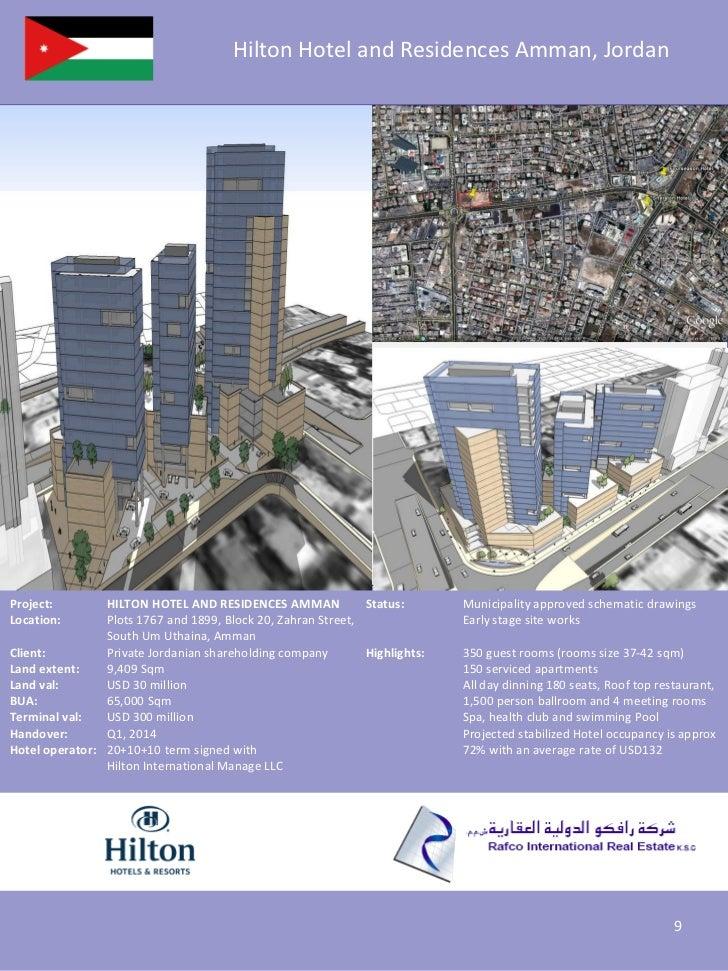 Hilton Hotel and Residences Amman, JordanProject:        HILTON HOTEL AND RESIDENCES AMMAN             Status:       Munic...