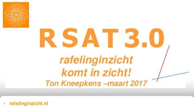 rafelinginzicht komt in zicht! Ton Kneepkens –maart 2017 Nederland R 1 SAT 3.0 rafelinginzicht.nl