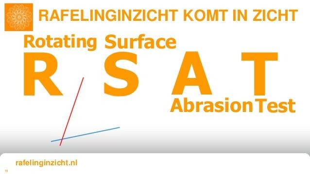 11 R S A T Rotating Surface AbrasionTest RAFELINGINZICHT KOMT IN ZICHT rafelinginzicht.nl