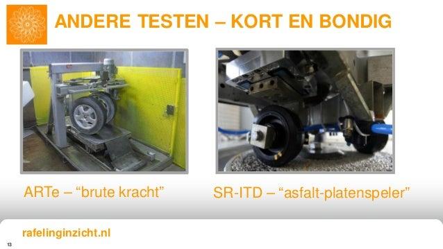 "13 ANDERE TESTEN – KORT EN BONDIG ARTe – ""brute kracht"" SR-ITD – ""asfalt-platenspeler"" rafelinginzicht.nl"