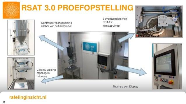 16 RSAT 3.0 PROEFOPSTELLING Continu weging afgezogen mineraal Centrifuge voor scheiding rubber van het minereaal Touchscre...