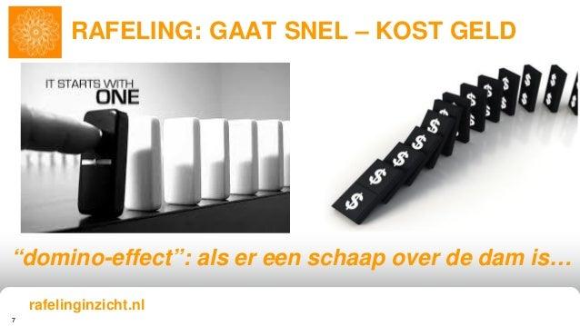 """7 RAFELING: GAAT SNEL – KOST GELD """"domino-effect"""": als er een schaap over de dam is… rafelinginzicht.nl"""