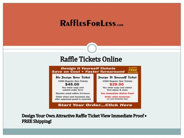 raffle tickets online design your own attractive raffle ticket view immediate proof free shipping