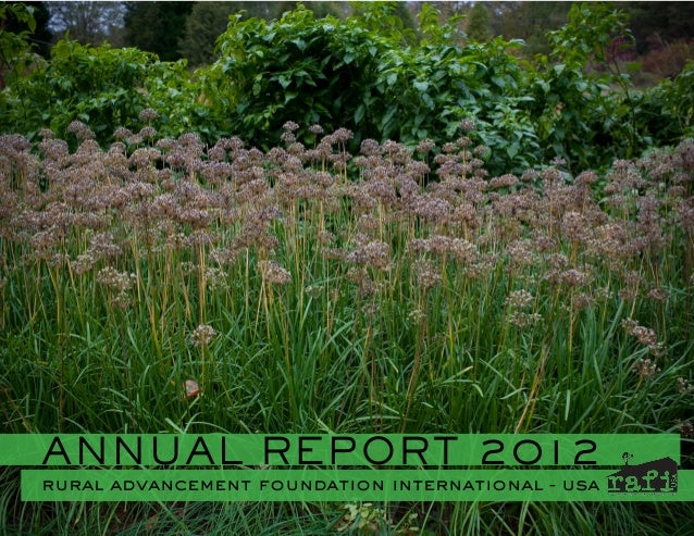 ANNUAL REPORT 2012 rural advancement foundation international - usa