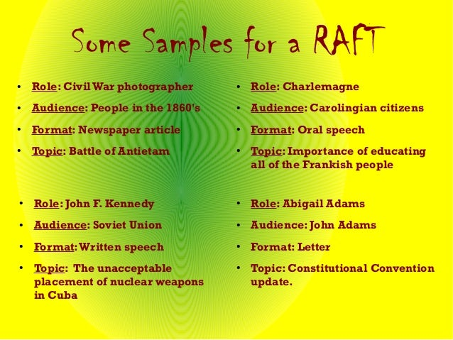 raft for social studies