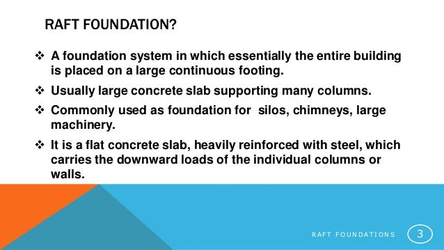 Raft foundations for Country plans com