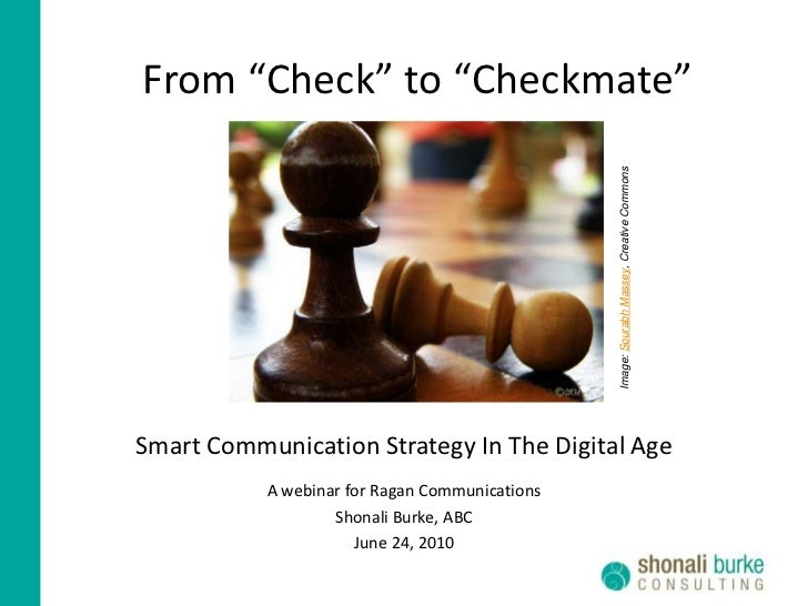 """From """"Check"""" to """"Checkmate""""<br />Image: Sourabh Massey, Creative Commons<br />Smart Communication Strategy In The Digital ..."""