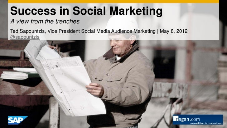 Success in Social MarketingA view from the trenchesTed Sapountzis, Vice President Social Media Audience Marketing | May 8,...