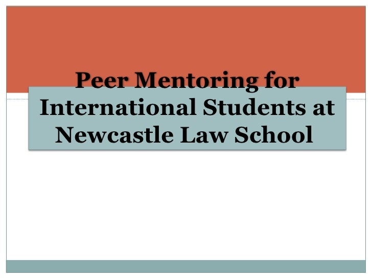 Peer Mentoring for International Students at Newcastle Law School