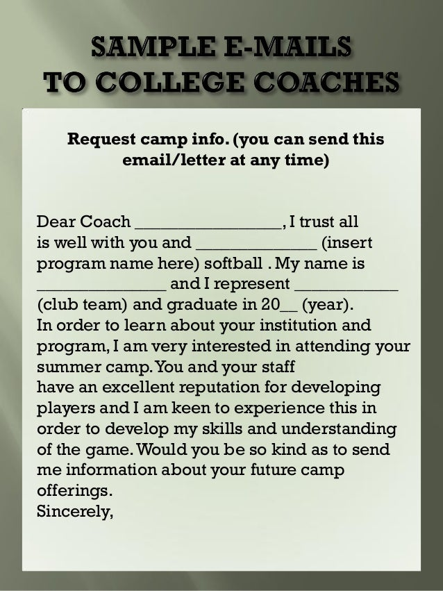 sample letter to college coaches for recruiting how to write emails to college coaches 24637 | rage recruiting 2013 21 638