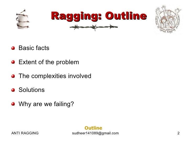 Talk:Ragging in India