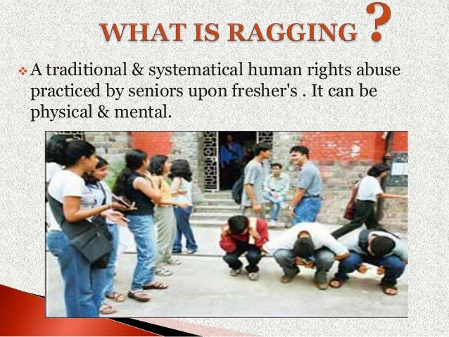 ragging is a crime Ragging - an avoidable crime part-i part-ii anti ragging part-i.