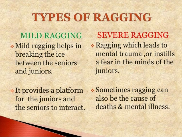 Why students are mistaking 'Ragging' with 'Crime'?