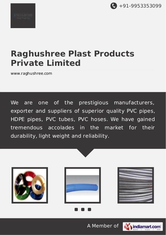 +91-9953353099  Raghushree Plast Products Private Limited www.raghushree.com  We  are  one  of  the  prestigious  manufact...