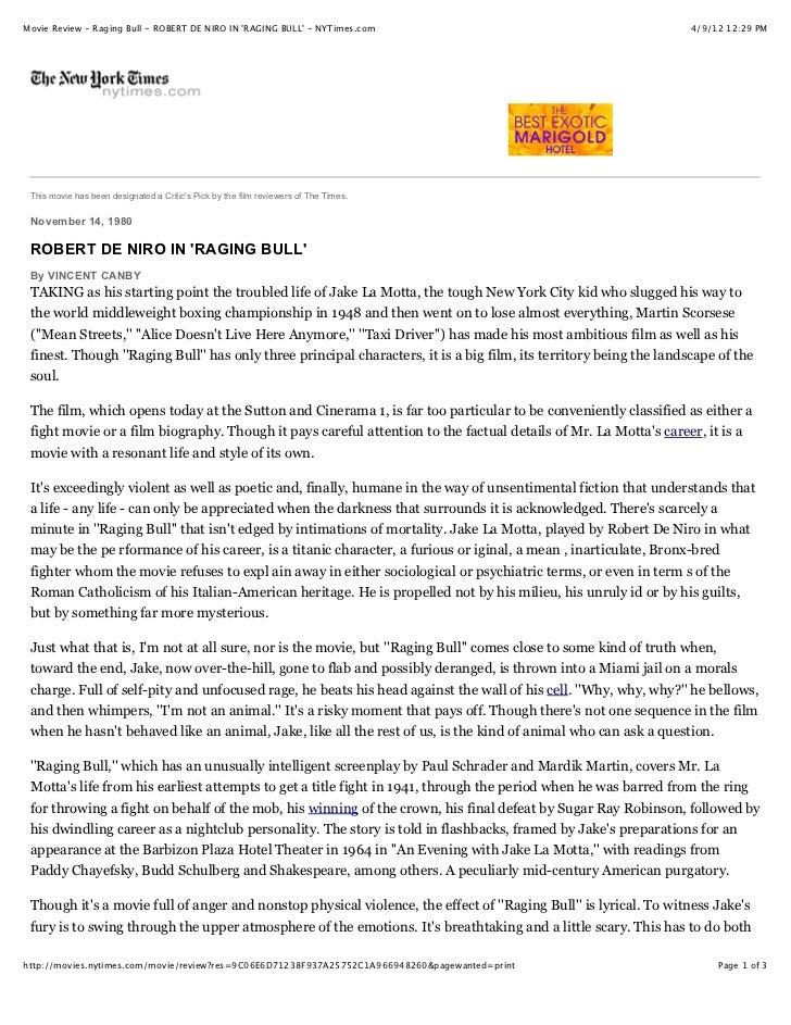 Movie Review - Raging Bull - ROBERT DE NIRO IN RAGING BULL - NYTimes.com                                          4/9/12 1...