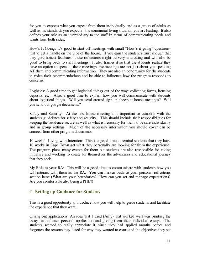Resident Advisor Essay Definition - image 4