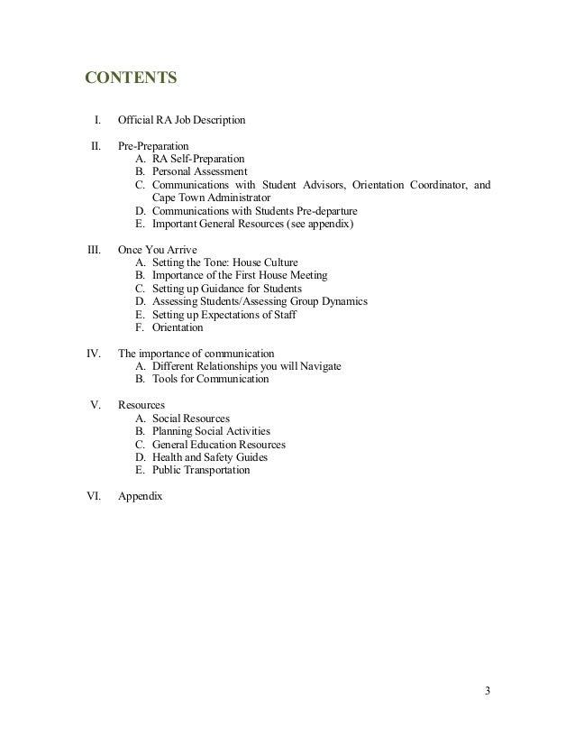 Resident Advisor Essay Definition - image 5