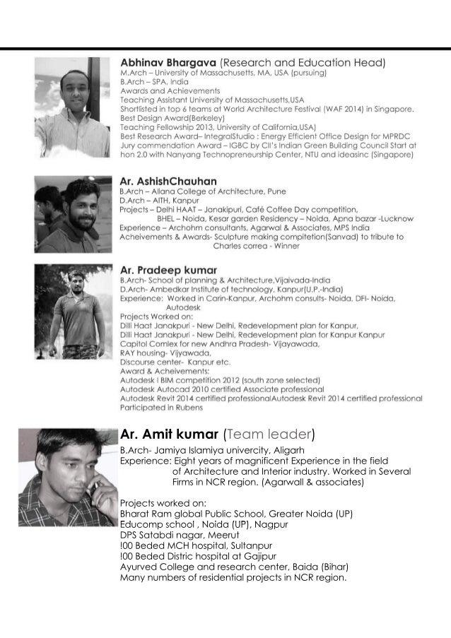 B.Arch-JamiyaIslamiyaunivercity,Aligarh Experience:EightyearsofmagnificentExperienceinthefield ofArchitectureandInteriorin...
