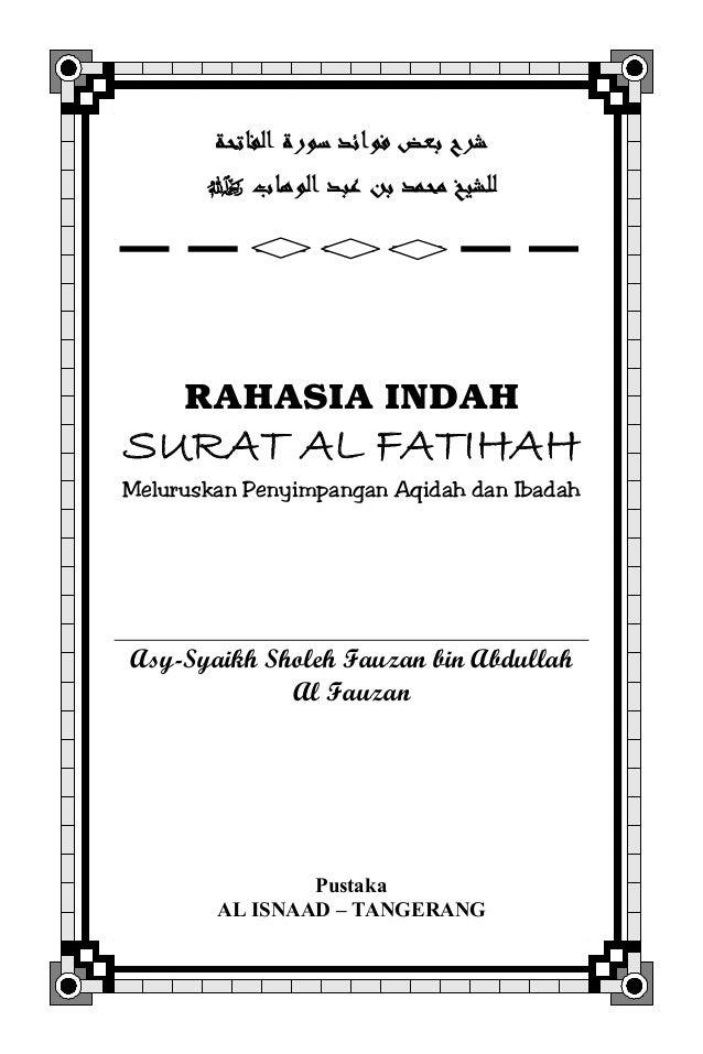 Rahasia Indah Surat Al Fatihah