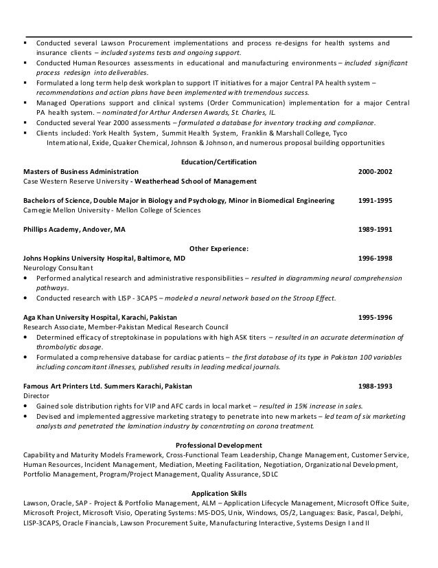 Resume And Double Major