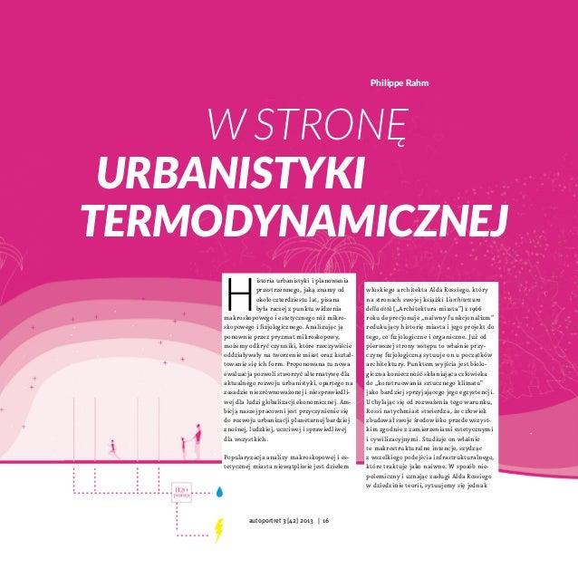 Philippe Rahm  W stronę urbanistyki termodynamicznej  H  istoria urbanistyki iplanowania przestrzennego, jaką znamy od ok...