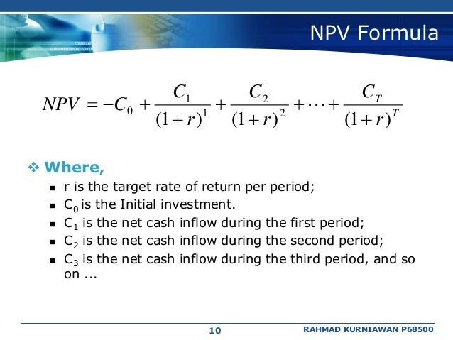 finance net present value and the If we calculate the present value of that future $10,000 with an inflation rate of 7% using the net present value calculator above, the result will be $7,12986 what that means is the discounted present value of a $10,000 lump sum payment in 5 years is roughly equal to $7,12986 today at a discount rate of 7%.