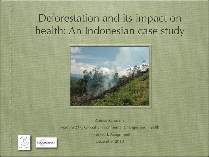 Deforestation and its impact onhealth: An Indonesian case study                      Annisa Rahmalia     Module 217: Globa...