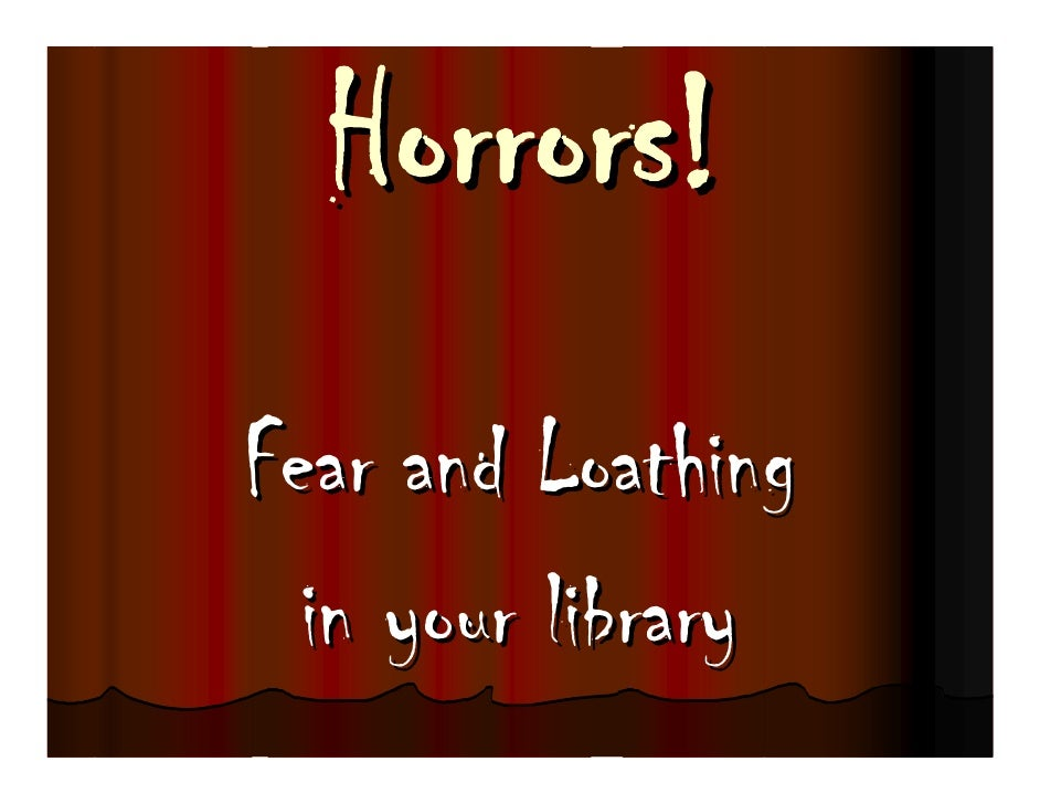 Fear and Loathing   in your library