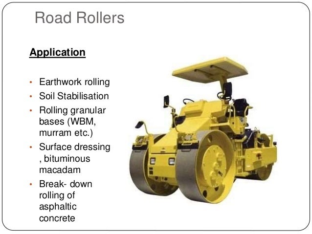 Equipment for compaction for 90 soil compaction