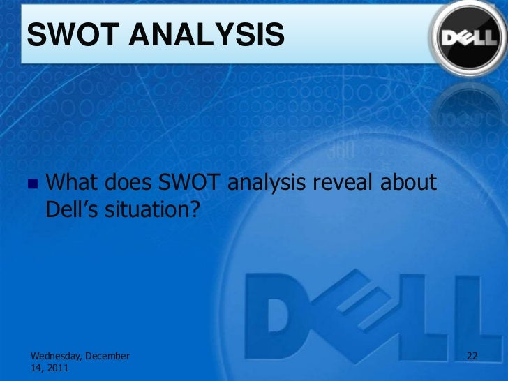 A swot analysis of dell a renowned computer brand