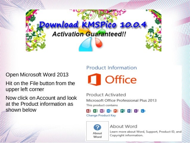kmspico for microsoft office 2013 download