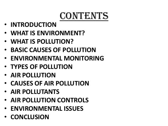 Air pollution research paper introduction