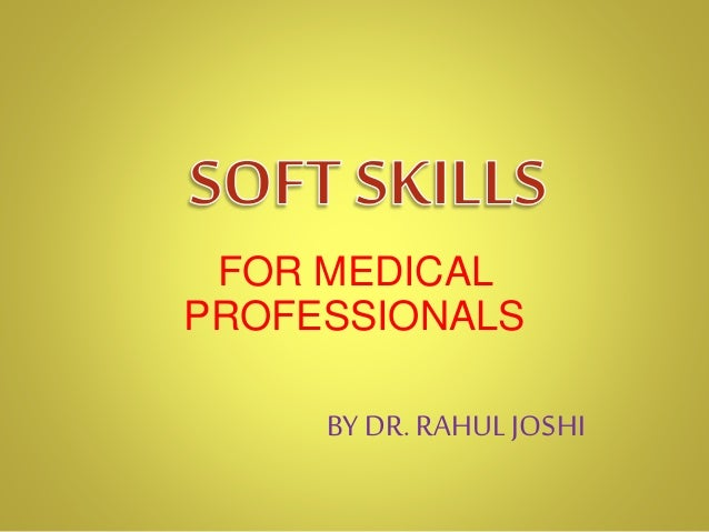 FOR MEDICAL PROFESSIONALS BY DR. RAHUL JOSHI