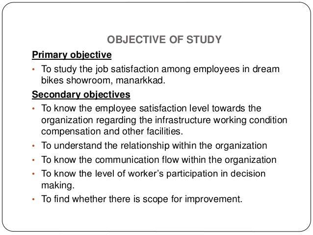 A study on job satisfaction of employees - SlideShare