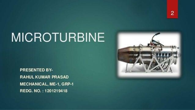 Microturbine ppt Slide 2