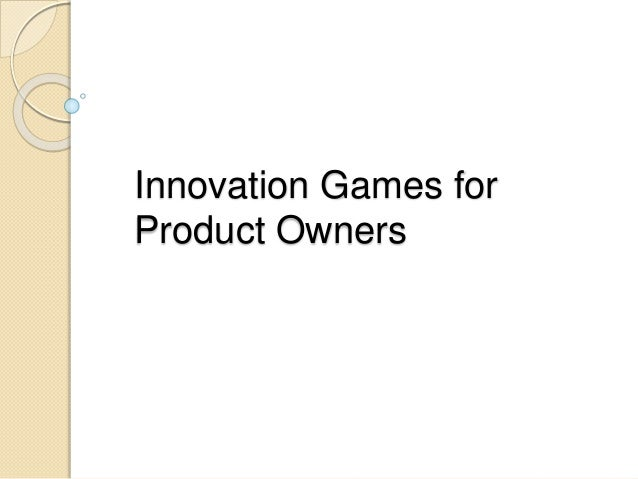 Innovation Games for Product Owners