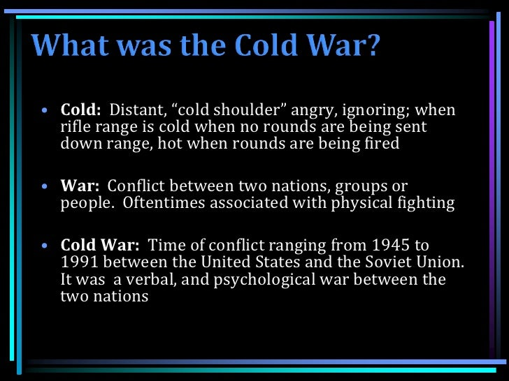 An analysis of the responsibility for the cold war