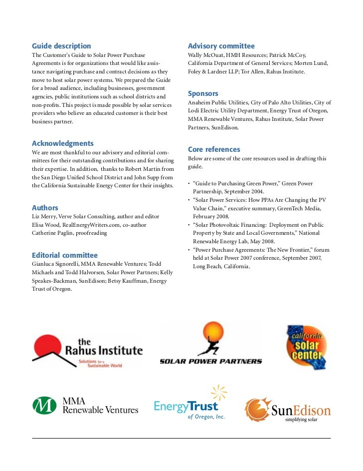 Rahus Solar PPA Customers Guide V20081005 Lr