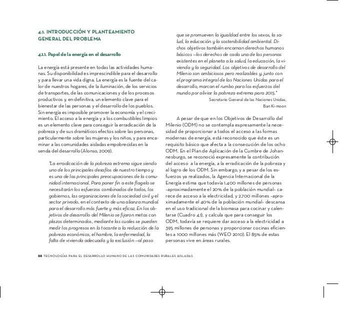 Tecnología para el Desarrollo Humano de Comunidades Rurales - Energía Slide 2