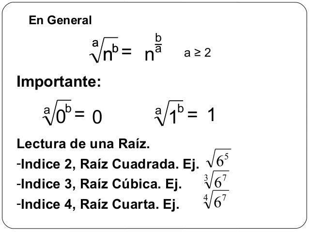 RAICES CUADRADAS Y CUBICAS