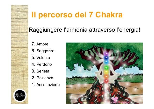Raggiungere l'armonia attraverso l'energia! 7. Amore 6. Saggezza 5. Volontà 4. Perdono 3. Serietà 2. Pazienza 1. Accettazi...
