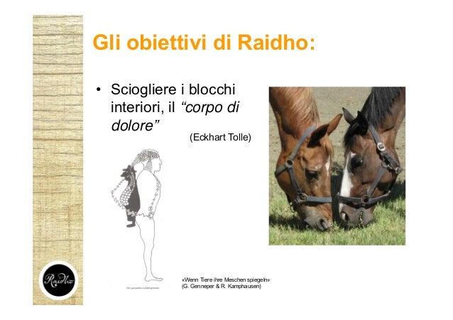 """• Sciogliere i blocchi interiori, il """"corpo di dolore"""" Gli obiettivi di Raidho: (Eckhart Tolle) «Wenn Tiere ihre Meschen s..."""
