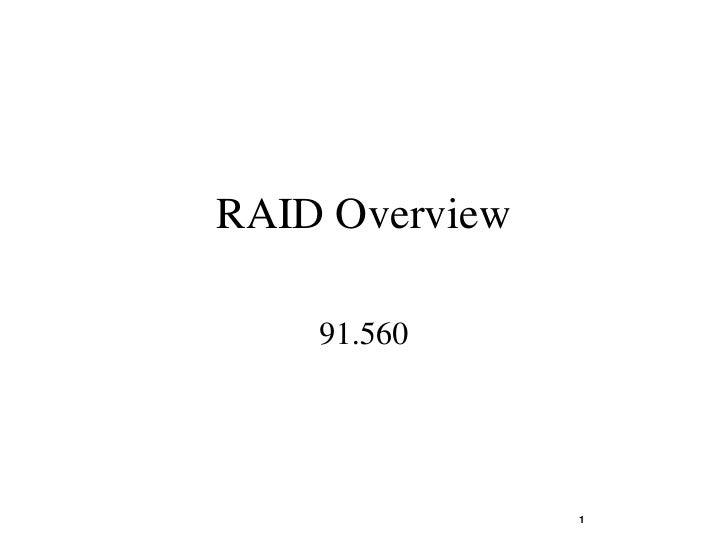 RAID Overview      91.560                     1