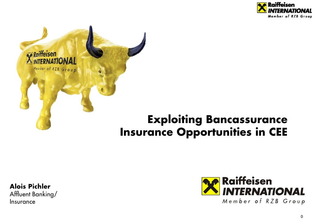 Exploiting Bancassurance                     Insurance Opportunities in CEE     Alois Pichler Affluent Banking/ Insurance ...